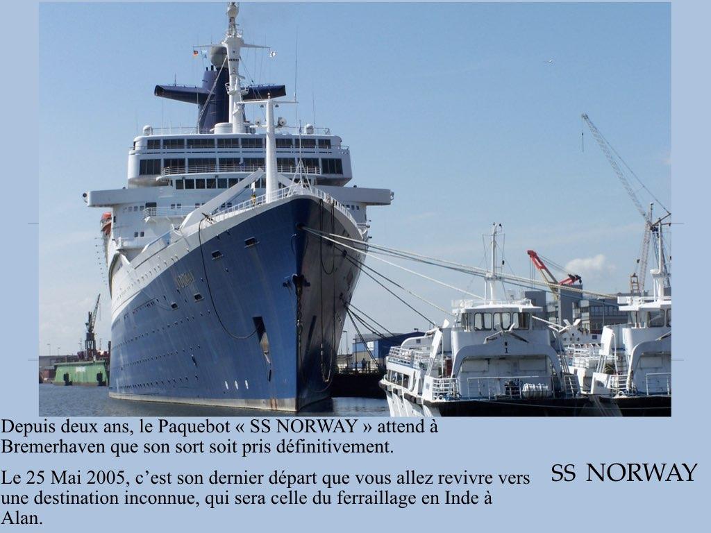 REPORTAGE-25 MAI 2005-DERNIER DÉPART DU SS NORWAY BREMERHAVEN..001
