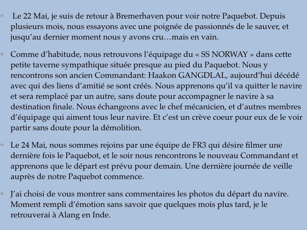 REPORTAGE-25 MAI 2005-DERNIER DÉPART DU SS NORWAY BREMERHAVEN..002