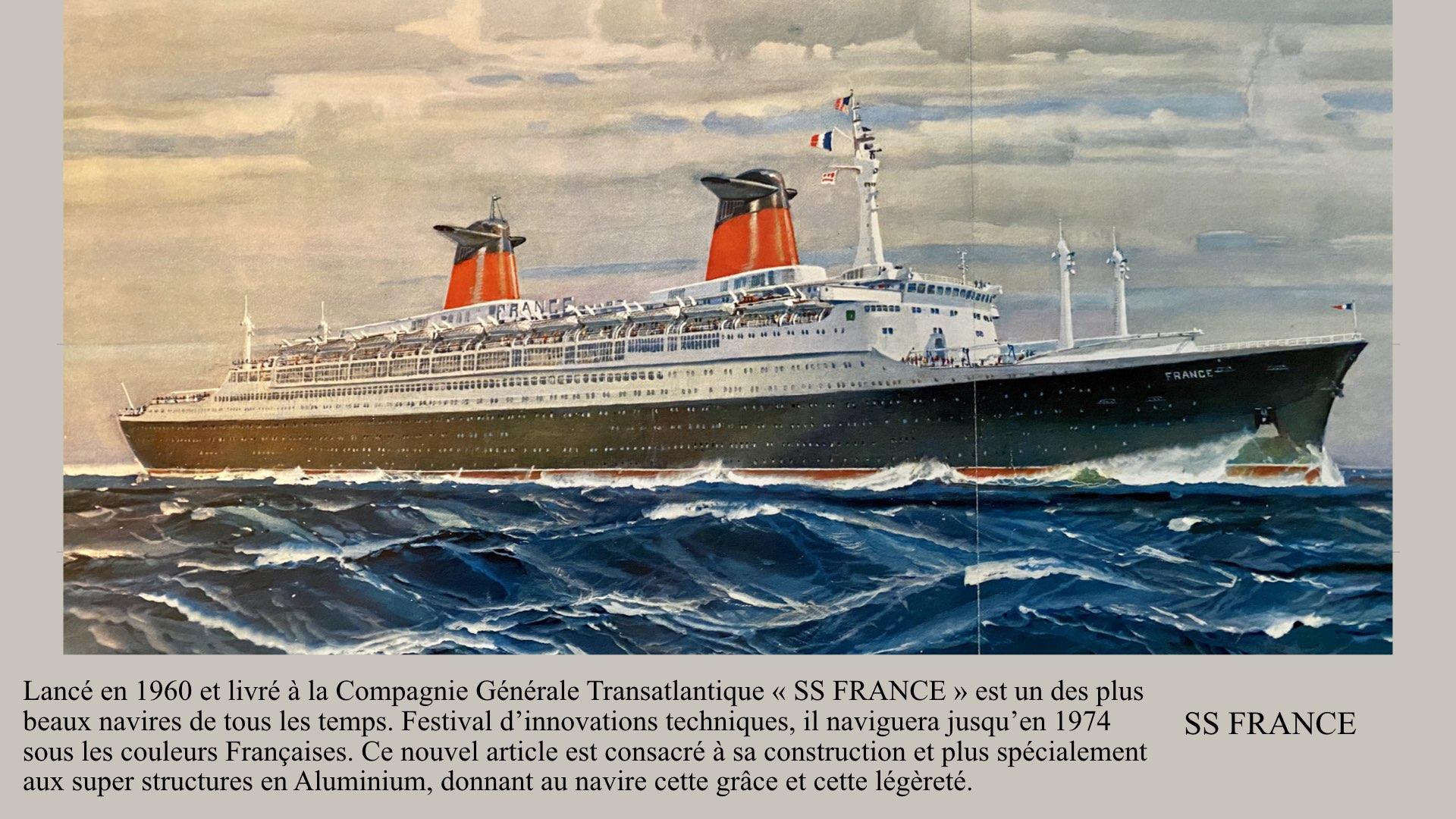 PAQUEBOT DE LÉGENDE-CONSTRUCTION DU SS FRANCE..001
