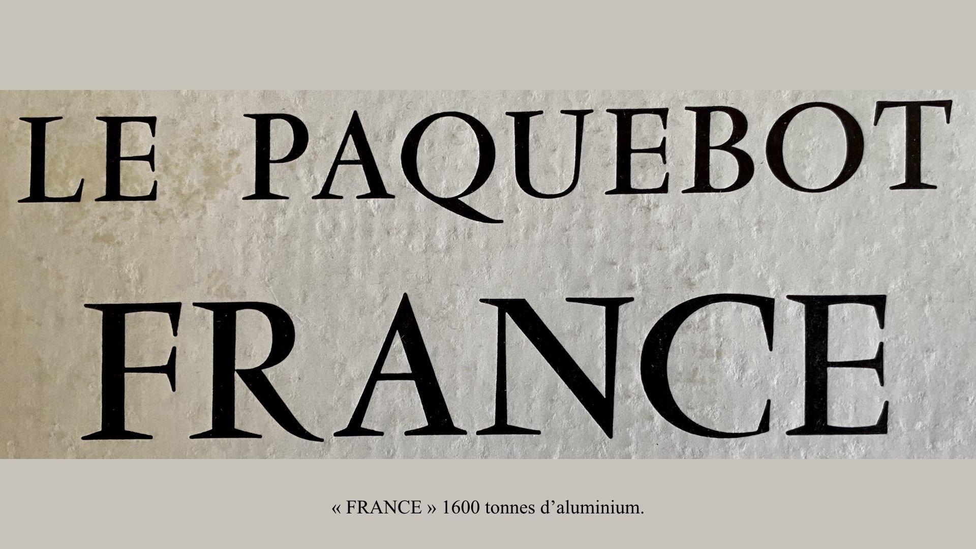 PAQUEBOT DE LÉGENDE-CONSTRUCTION DU SS FRANCE..003