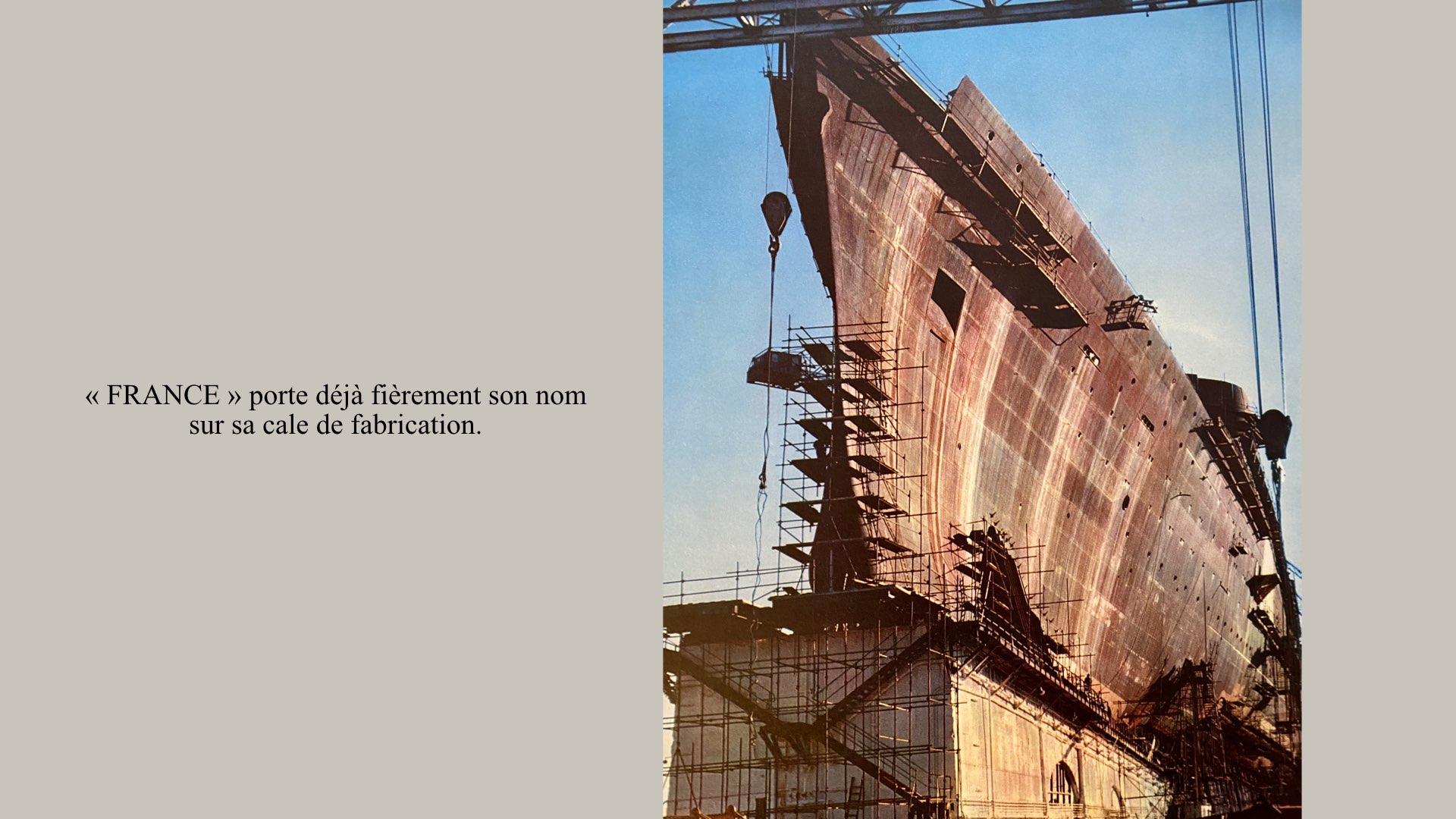 PAQUEBOT DE LÉGENDE-CONSTRUCTION DU SS FRANCE..008