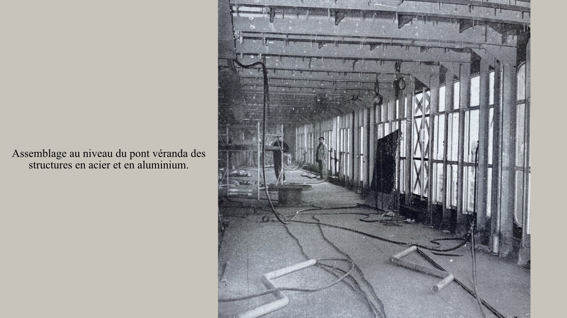 PAQUEBOT DE LÉGENDE-CONSTRUCTION DU SS FRANCE..021